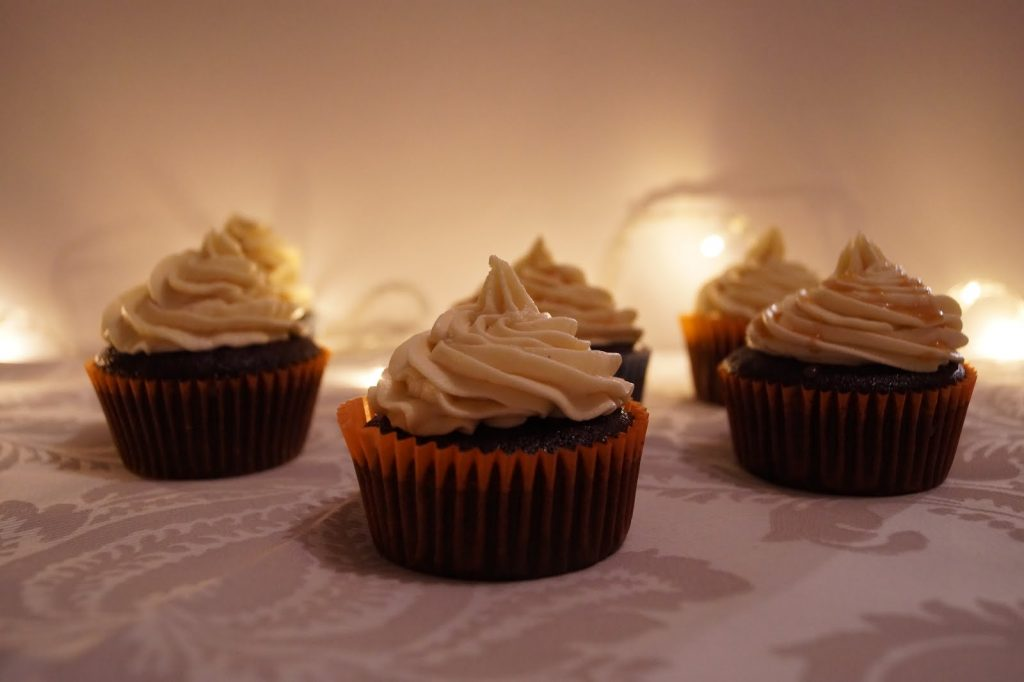 Salted caramel chocolate cupcakes