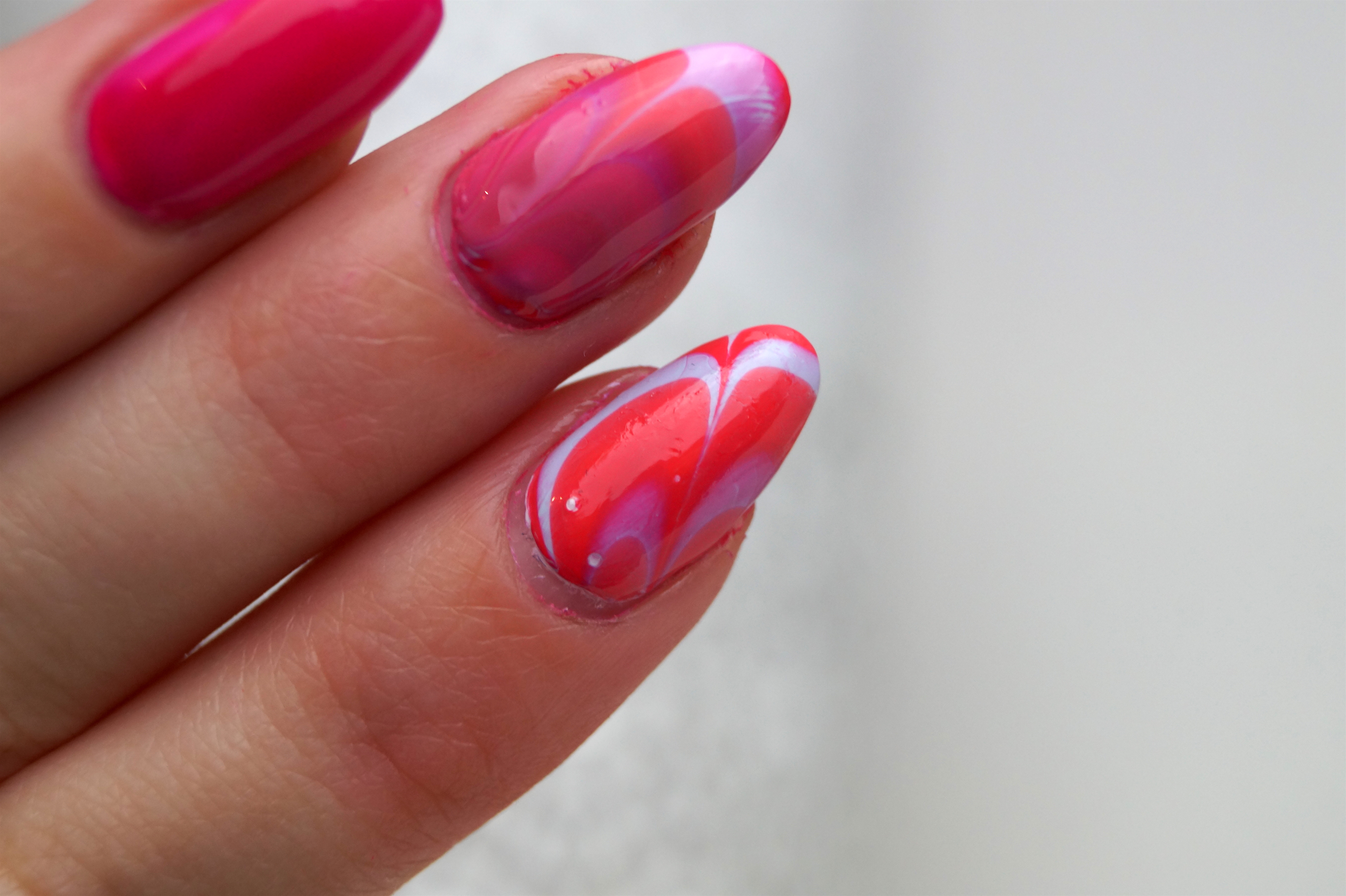 Water marble Nail Art – A Snippet of Life