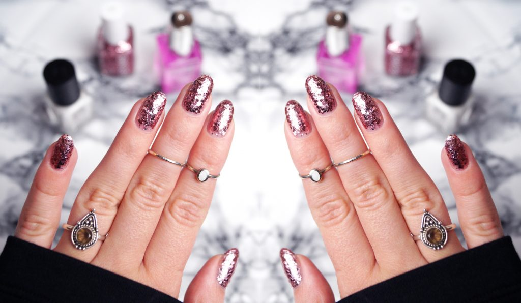 How to do Glitter Nails which are easy to take off