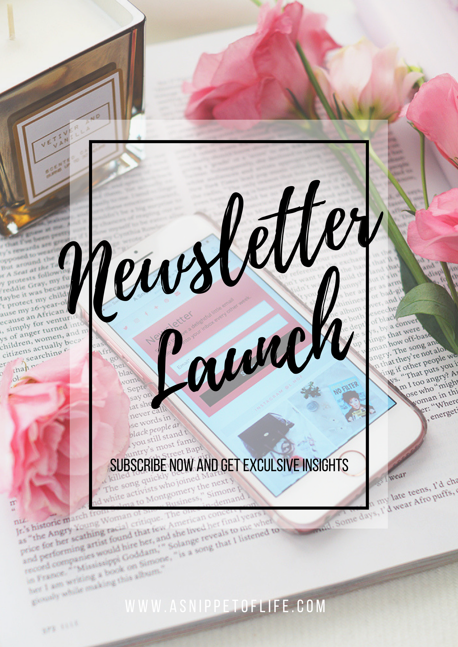 A Snippet of Life - Newsletter Launch