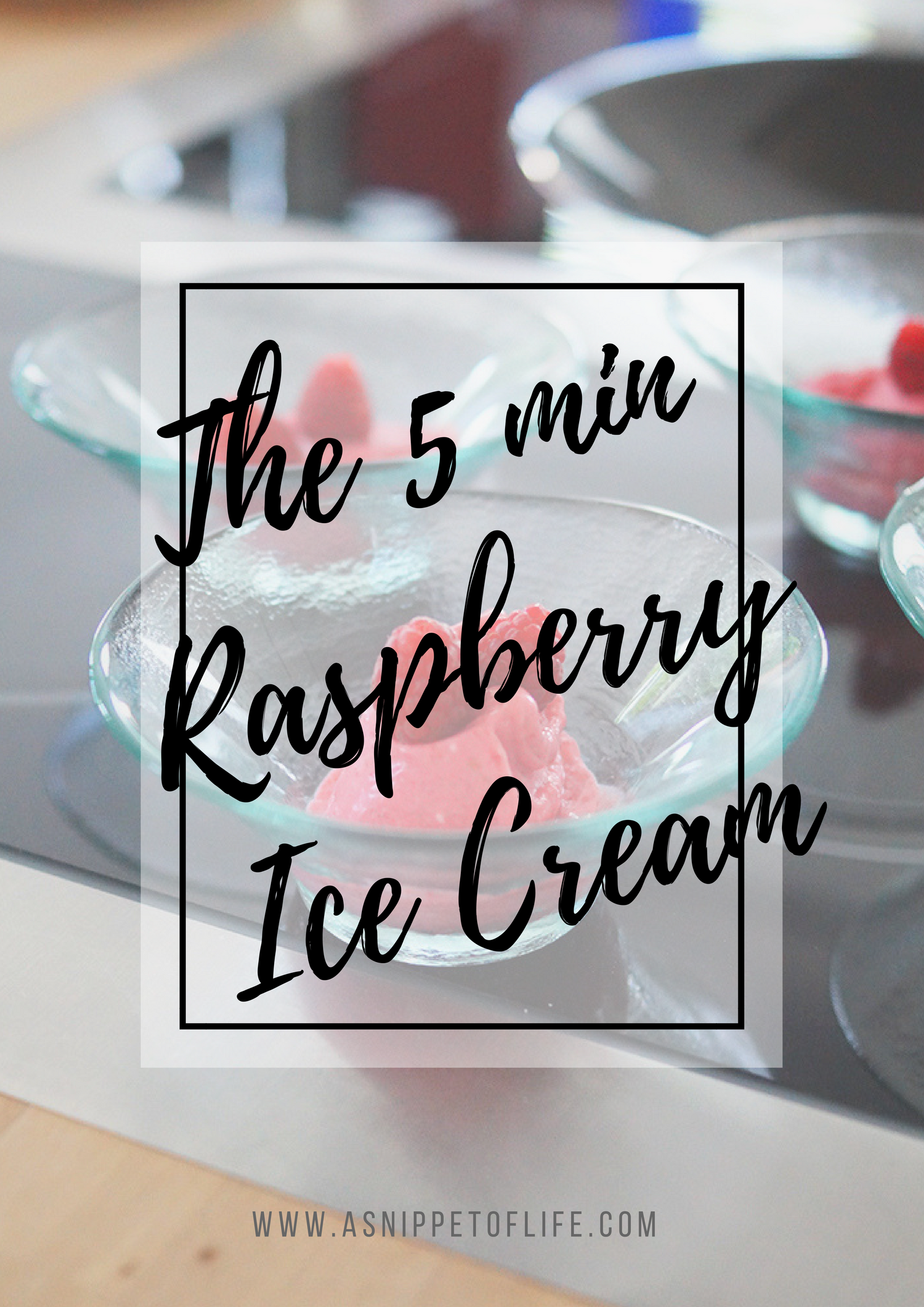 the home made 5 min raspberry ice cream