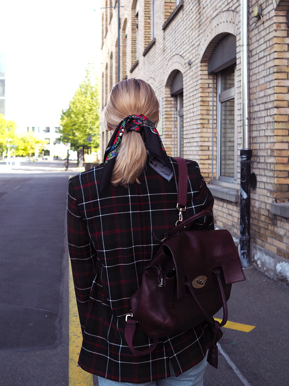 The Style Edit – the checked blazer