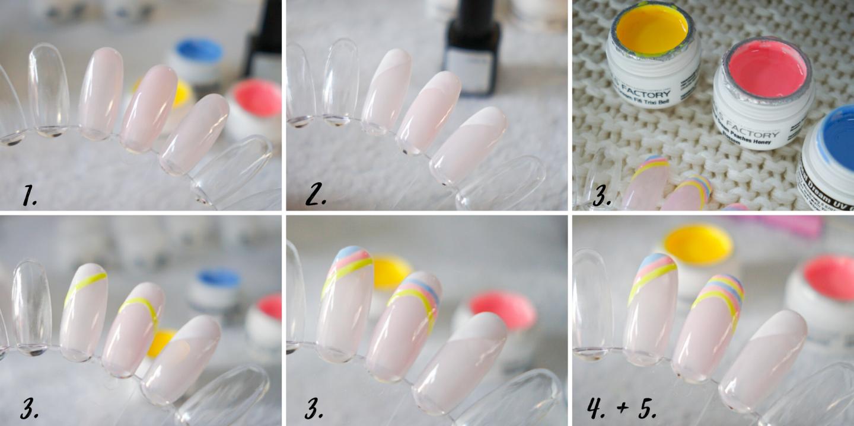 3 easy gel nail tutorials: Rainbow gel nails